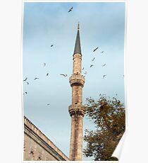 Minaret, Istanbul Poster