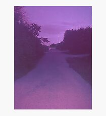 Pink road  Photographic Print