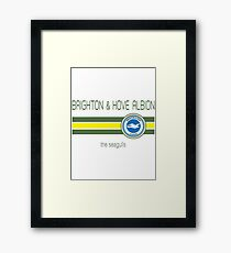 EPL - Brighton & Hove Albion (Away Yellow) Framed Print