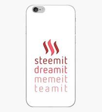Steemit.com - Dream it, Meme It, Team it - Steemit! (Red) iPhone Case