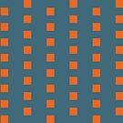 Bright Orange Squares by Annie Webster