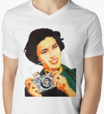 Woman with photo camera, vintage poster T-Shirt