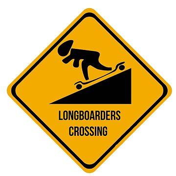 Longboarders crossing. Skate. by 2monthsoff