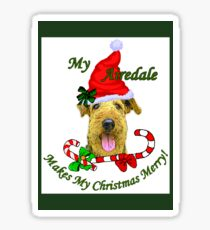 Airedale Terrier Christmas Gifts Sticker