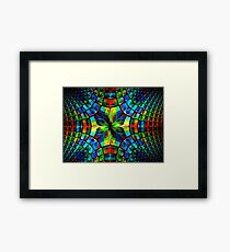 Flower and petals like stained-glass, kaleidoscope or mosaic Framed Print