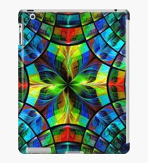 Flower and petals like stained-glass, kaleidoscope or mosaic iPad Case/Skin