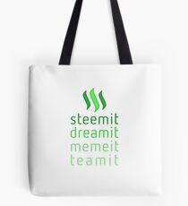 Steemit.com - Dream it, Meme It, Team it - Steemit! (Green) Tote Bag