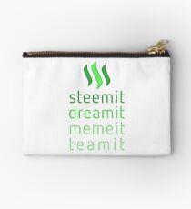 Steemit.com - Dream it, Meme It, Team it - Steemit! (Green) Studio Pouch