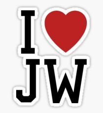 I Love Joss Whedon Sticker