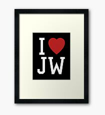 I Love Joss Whedon Framed Print