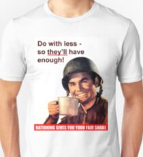 Soldier with a cup of coffee, war propaganda poster T-Shirt