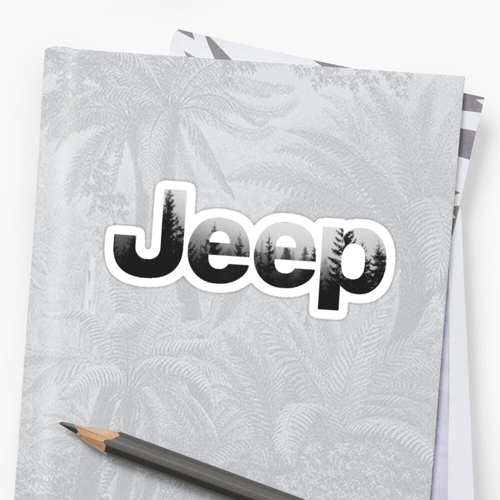 Jeep-Wald Sticker