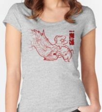 Ryu Red Women's Fitted Scoop T-Shirt