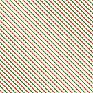 Orange & Green Diagonal Stripe by Annie Webster