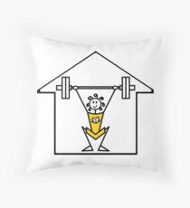 The lifting place Throw Pillow