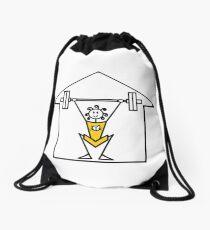 The lifting place Drawstring Bag
