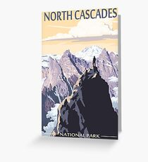 North Cascades National Park Washington State USA Travel Decal Greeting Card