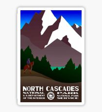 North Cascades National Park Service Travel Decal Washington Sticker