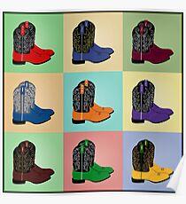 Texas Cowboy Roper Boots Poster