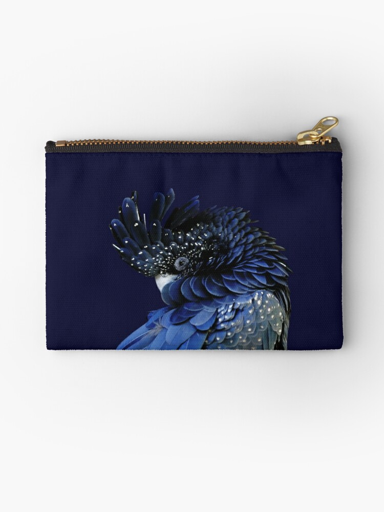 Studio Dalio - Red-Tailed Black Cockatoo Zippered Pouch