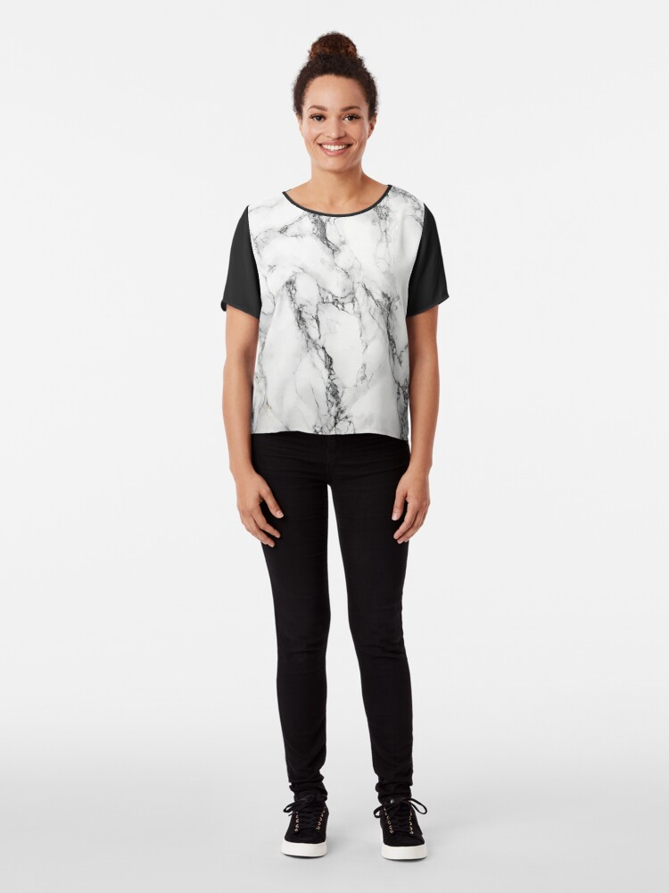 Alternate view of White Marble  Chiffon Top