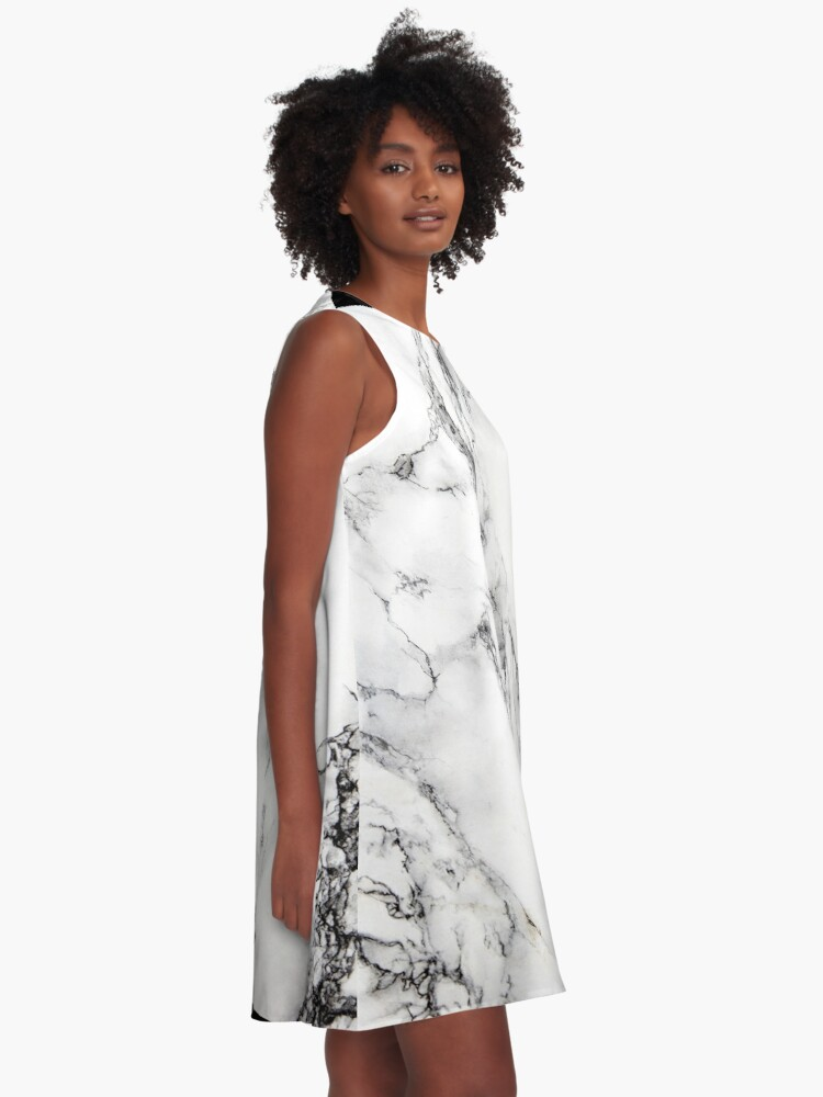 Alternate view of White Marble  A-Line Dress
