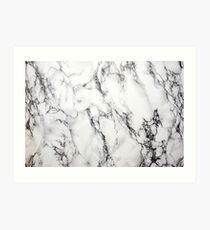 Weisser Marmor Kunstdruck