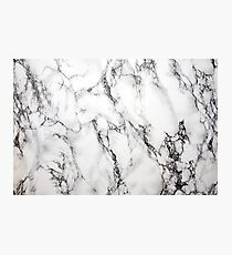 White Marble  Photographic Print