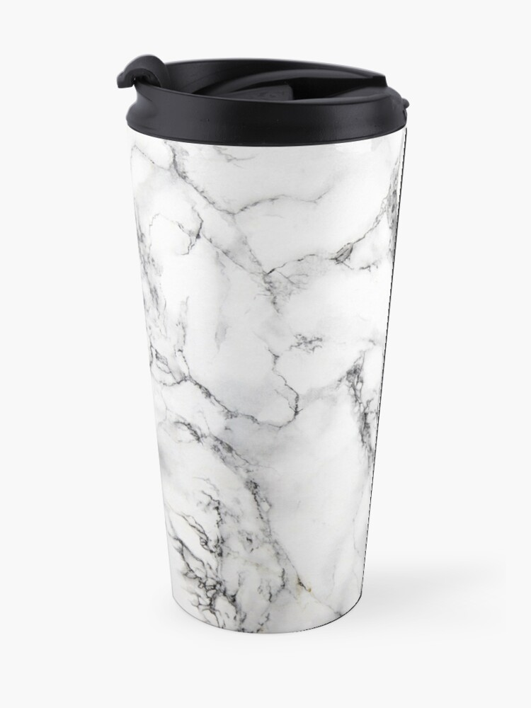 Alternate view of White Marble  Travel Mug