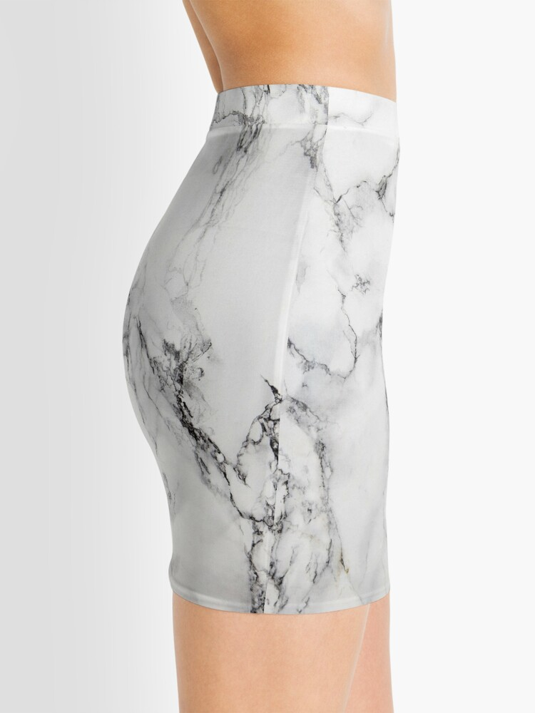 Alternate view of White Marble  Mini Skirt