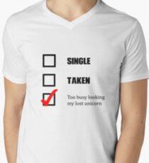 Zu beschäftigt, mein verlorenes Einhornhemd zu suchen T-Shirt mit V-Ausschnitt für Männer