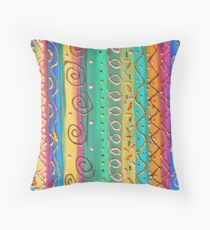Graphismes - Graphics Throw Pillow