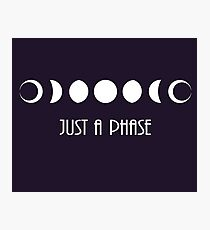 """Just a phase"" moon phases Photographic Print"