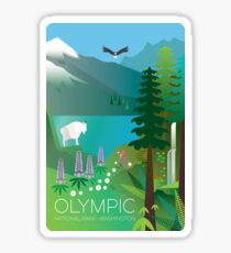 Olympic National Park Washington, USA Scenic Travel Decal Sticker