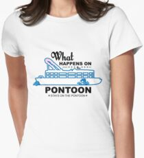 What Happens On The Pontoon Stays On The Pontoon, Boat Shirt T-Shirt