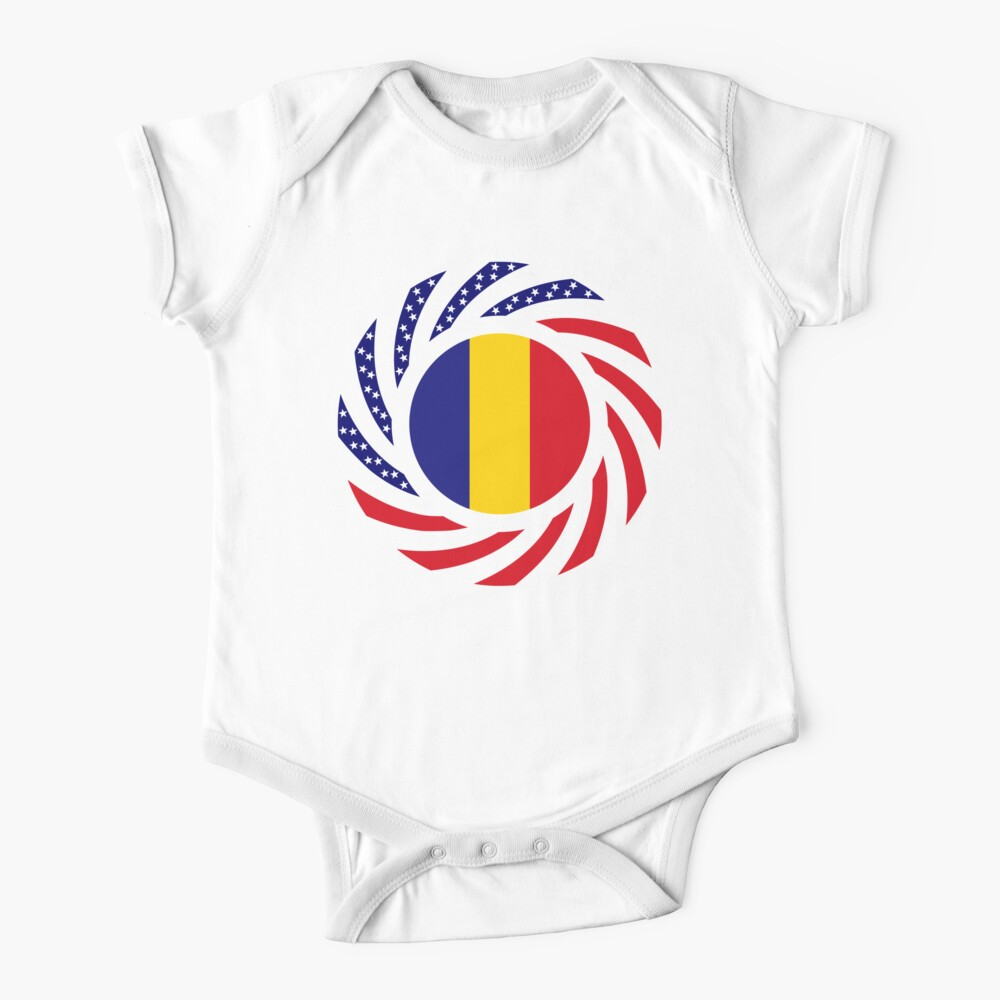 Romanian American Multinational Patriot Flag Series Baby One-Piece