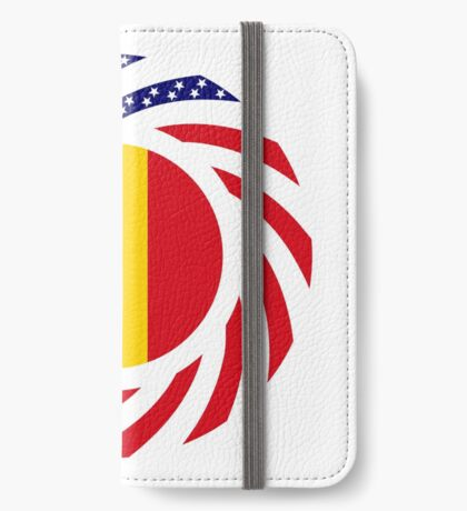 Romanian American Multinational Patriot Flag Series iPhone Wallet