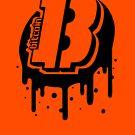 Bitcoin Logo Graffiti stencil. by lucidhouse