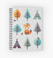 Fox in the Forest - on Gray Spiral Notebook