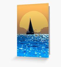 Sailing to the horizon Greeting Card