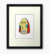 Cool Young Man Character Portrait Framed Print