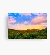 Adirondack Mountains Scenic Sunset Canvas Print