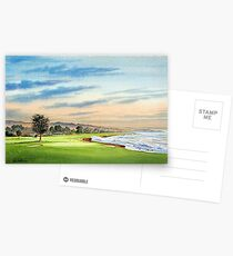Pebble Beach Golf Course 18Th Hole Postcards