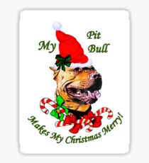 Pitbull Terrier Christmas Gifts Sticker