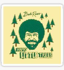 BOB ROSS HAPPY TREES STICKER Sticker