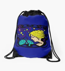 Mystical Art Nouveau Astral Woman Drawstring Bag