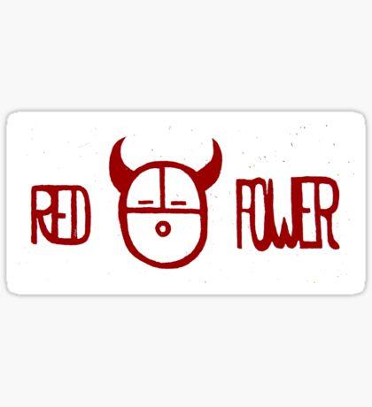 Red Power Sticker
