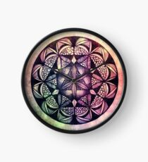 Seed of Life Rainbow Drips Clock