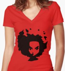 huey free man Women's Fitted V-Neck T-Shirt