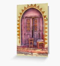 Door  Greeting Card